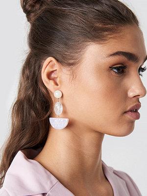 NA-KD Accessories Halfmoon Stone Earrings - Smycken