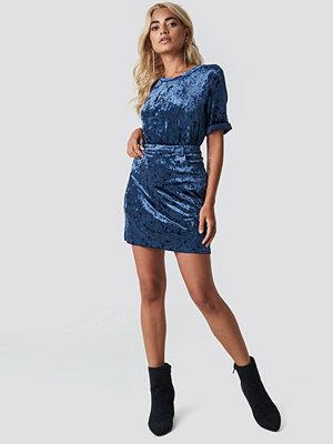 Rut & Circle Velvet Skirt blå