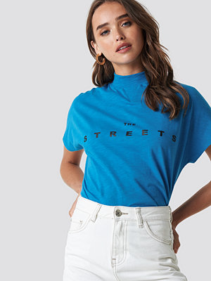T-shirts - NA-KD Streets Cap Sleeve Top blå
