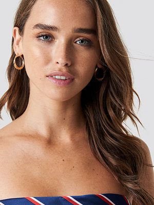 NA-KD Accessories 2-Pack Layered Structured Hoops - Smycken