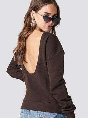 NA-KD Basic Deep Back Sweater