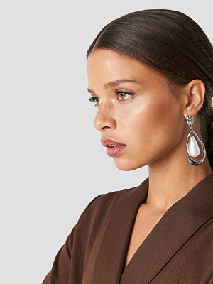 NA-KD Accessories Large Pearl Earring - Smycken