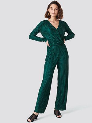 Rut & Circle Pleated Jumpsuit grön