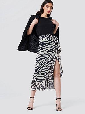 NA-KD Trend Mesh Overlap Maxi Skirt multicolor