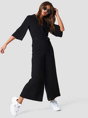 NA-KD Trend Belted Cropped Jumpsuit