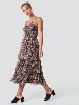NA-KD Mesh Layered Slip Dress - Maxiklänningar