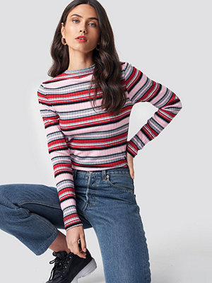 NA-KD Round Neck Striped Top multicolor