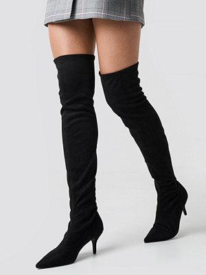 NA-KD Shoes Overknee Kitten Heel Boots svart