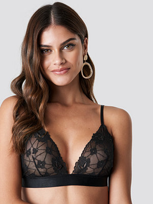NA-KD Lingerie Floral Embroidery Mesh Bra - BH:ar