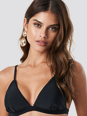 NA-KD Swimwear Lace Edge Bikini Top - Bikini