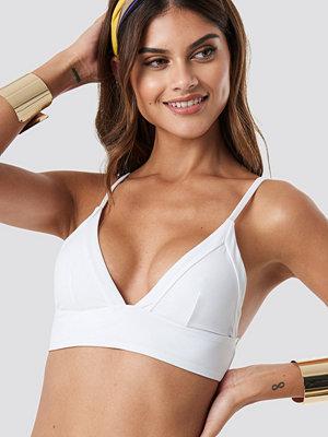 NA-KD Swimwear Framed Bikini Bralette vit