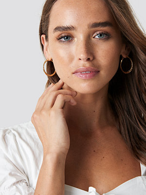 NA-KD Accessories 2-Pack Structured Hoops - Smycken