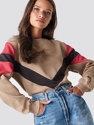 NA-KD Multi Blocked Sweatshirt