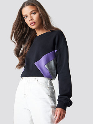 Tröjor - NA-KD Blocked Side Sweatshirt