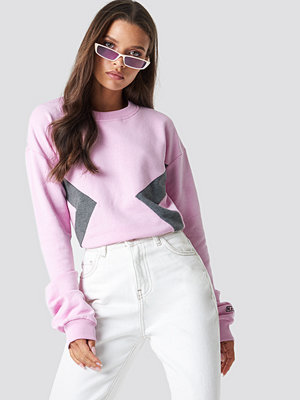 NA-KD Blocked Side Sweatshirt rosa