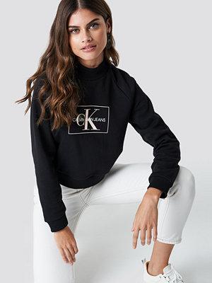 Calvin Klein Outline Monogram Rel Crew Neck svart