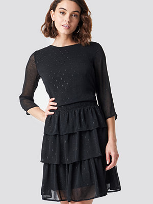 Rut & Circle Glitter Dot Frill Dress svart