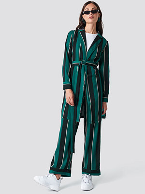 Rut & Circle Striped Dress Jacket grön