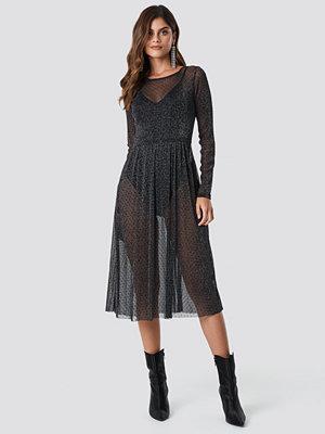 Rut & Circle Glitter Mesh Dot Dress - Midiklänningar