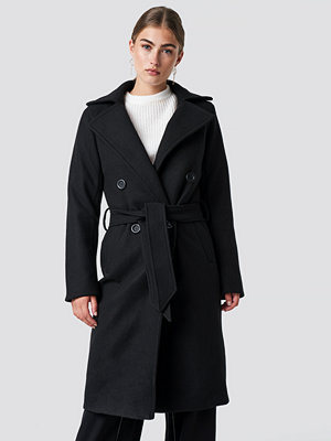 Rut & Circle Tove Long Coat svart