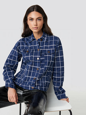 Lasula Denim Checkered Jacket - Jeansjackor