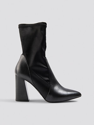 NA-KD Shoes PU Satin Sock Boots - Högklackat