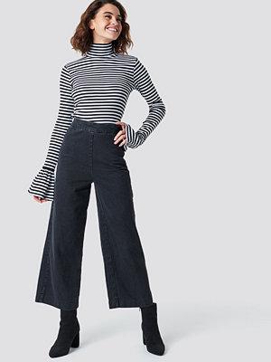 NA-KD Classy Culotte Denim Pants grå