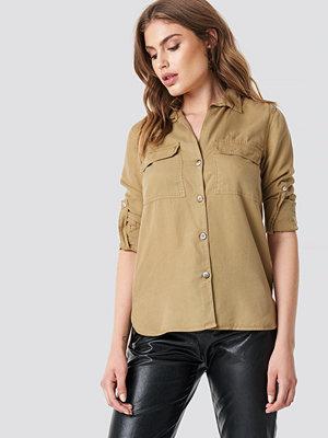 Skjortor - Mango Roma Shirt beige