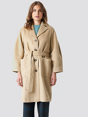 Trendyol Camel Button Detailed Coat beige