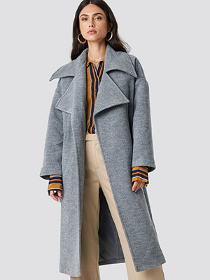 Trendyol Oversized Archer Coat grå
