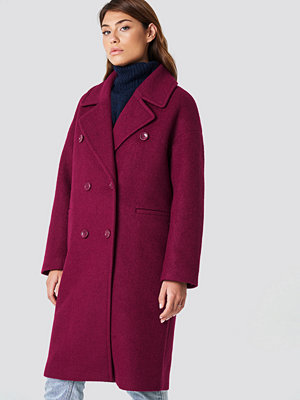 NA-KD Oversized Double Breasted Coat rosa lila