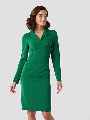NA-KD Trend Boning Detail Midi Dress grön