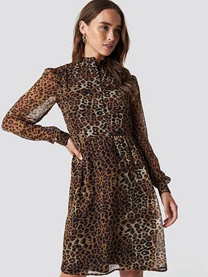 NA-KD High Neck Shirt Dress - Miniklänningar
