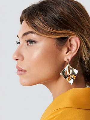 NA-KD Accessories Folded Square Earrings - Smycken