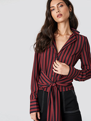 NA-KD Trend Tied Waist Striped Shirt