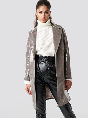 NA-KD Trend PU Checked Coat - Kappor