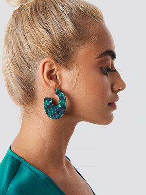 NA-KD Accessories Green Resin Look Earrings - Smycken