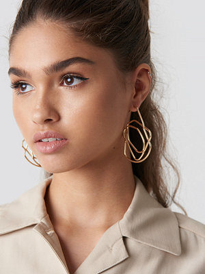 NA-KD Accessories Chaotic Lines Earrings - Smycken