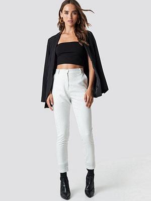 NA-KD Classic vita byxor Pinstripe Suit Pants vit