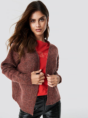 NA-KD Trend Wool Blend Short Cardigan röd