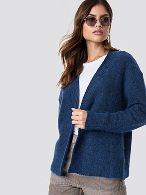 NA-KD Trend Wool Blend Short Cardigan blå