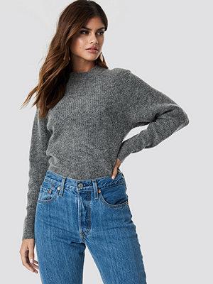 NA-KD Trend Wool Blend Raglan Sleeve Sweater grå