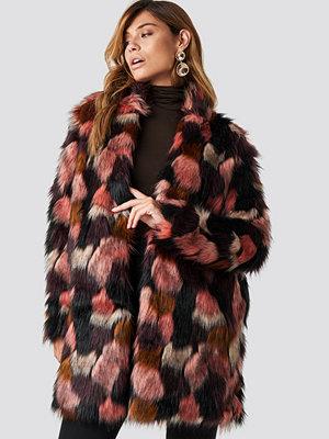 Rut & Circle Tekla Fake Fur Coat rosa multicolor