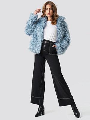 NA-KD Faux Fur Short Jacket blå