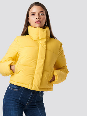 Hannalicious x NA-KD Short Puffy Jacket gul