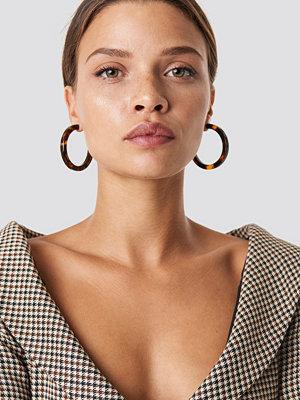 NA-KD Accessories Resin Hoop Earrings - Smycken