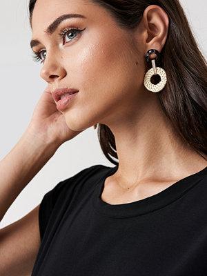 NA-KD Accessories Raffia Hoop Earrings - Smycken