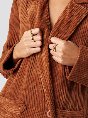 NA-KD Accessories Asymmetric Stacking Rings - Smycken