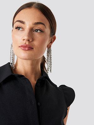 NA-KD Accessories Oversize Rhinestone Earrings - Smycken