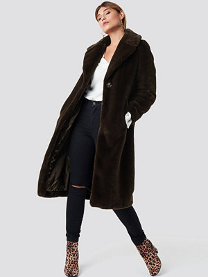 XLE the Label Caroline Faux Fur Coat brun